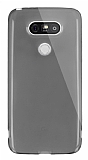 Dafoni Aircraft LG G5 Ultra İnce Şeffaf Siyah Silikon Kılıf