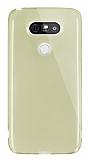 Dafoni Aircraft LG G5 Ultra İnce Şeffaf Gold Silikon Kılıf
