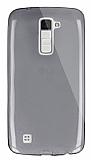 Dafoni Aircraft LG K10 Ultra İnce Şeffaf Siyah Silikon Kılıf
