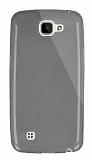 Dafoni Aircraft LG K4 Ultra İnce Şeffaf Siyah Silikon Kılıf