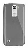 Dafoni Aircraft LG K7 Ultra İnce Şeffaf Siyah Silikon Kılıf