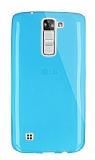 Dafoni Aircraft LG K7 Ultra İnce Şeffaf Mavi Silikon Kılıf