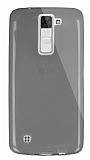 Dafoni Aircraft LG K8 Ultra İnce Şeffaf Siyah Silikon Kılıf
