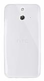 Dafoni Aircraft HTC One E8 Ultra İnce Şeffaf Silikon Kılıf