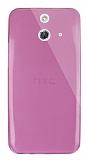 Dafoni Aircraft HTC One E8 Ultra İnce Şeffaf Pembe Silikon Kılıf