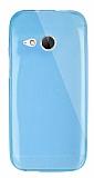 Dafoni Aircraft HTC One mini 2 Ultra İnce Şeffaf Mavi Silikon Kılıf
