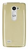 LG Leon Ultra İnce Şeffaf Gold Silikon Kılıf