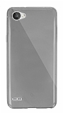 Dafoni Aircraft LG Q6 Ultra İnce Şeffaf Siyah Silikon Kılıf