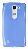 Eiroo LG Spirit Ultra İnce Şeffaf Mavi Silikon Kılıf