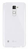 Dafoni Aircraft LG Stylus 2 / Stylus 2 Plus Ultra İnce Şeffaf Silikon Kılıf