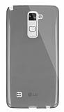 Dafoni Aircraft LG Stylus 2 / Stylus 2 Plus Ultra İnce Şeffaf Siyah Silikon Kılıf