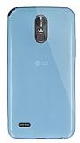Dafoni Aircraft LG Stylus 3 Ultra İnce Şeffaf Mavi Silikon Kılıf