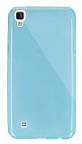 Dafoni Aircraft LG X Power Ultra İnce Şeffaf Mavi Silikon Kılıf