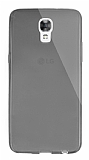 Dafoni Aircraft LG X screen Ultra İnce Şeffaf Siyah Silikon Kılıf