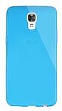 Dafoni Aircraft LG X screen Ultra İnce Şeffaf Mavi Silikon Kılıf