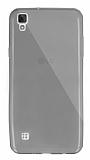 Dafoni Aircraft LG X Style Ultra İnce Şeffaf Siyah Silikon Kılıf