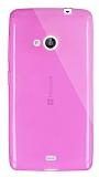 Dafoni Aircraft Microsoft Lumia 535 Ultra İnce Şeffaf Pembe Silikon Kılıf