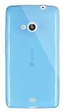 Dafoni Aircraft Microsoft Lumia 535 Ultra İnce Şeffaf Mavi Silikon Kılıf
