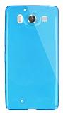Dafoni Aircraft Microsoft Lumia 950 Ultra İnce Şeffaf Mavi Silikon Kılıf