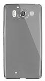 Dafoni Aircraft Microsoft Lumia 950 Ultra İnce Şeffaf Siyah Silikon Kılıf