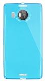 Dafoni Aircraft Microsoft Lumia 950 XL İnce Şeffaf Mavi Silikon Kılıf