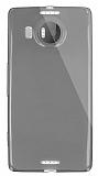 Dafoni Aircraft Microsoft Lumia 950 XL İnce Şeffaf Siyah Silikon Kılıf