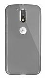 Dafoni Aircraft Motorola Moto G4 / G4 Plus Ultra İnce Şeffaf Siyah Silikon Kılıf