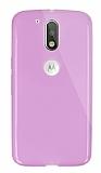 Dafoni Aircraft Motorola Moto G4 / G4 Plus Ultra İnce Şeffaf Pembe Silikon Kılıf