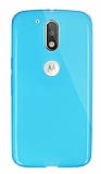 Dafoni Aircraft Motorola Moto G4 / G4 Plus Ultra İnce Şeffaf Mavi Silikon Kılıf