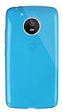 Dafoni Aircraft Motorola Moto G5 Ultra İnce Şeffaf Mavi Silikon Kılıf