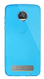 Dafoni Aircraft Motorola Moto Z2 Play Ultra İnce Şeffaf Mavi Silikon Kılıf