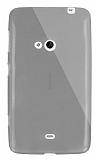 Dafoni Aircraft Nokia Lumia 625 Ultra İnce Şeffaf Siyah Silikon Kılıf