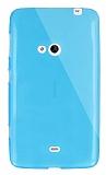 Dafoni Aircraft Nokia Lumia 625 Ultra �nce �effaf Mavi Silikon K�l�f