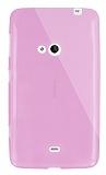Dafoni Aircraft Nokia Lumia 625 Ultra �nce �effaf Pembe Silikon K�l�f