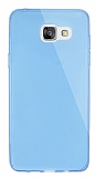 Dafoni Aircraft Samsung Galaxy A7 2016 Ultra İnce Şeffaf Mavi Silikon Kılıf