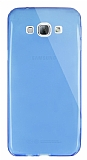Dafoni Aircraft Samsung Galaxy A8 Ultra İnce Şeffaf Mavi Silikon Kılıf