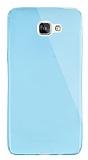 Dafoni Aircraft Samsung Galaxy A9 Ultra İnce Şeffaf Mavi Silikon Kılıf