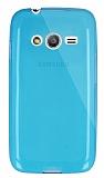 Dafoni Aircraft Samsung Galaxy Ace 4 Ultra İnce Şeffaf Mavi Silikon Kılıf