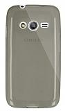 Dafoni Aircraft Samsung Galaxy Ace 4 Ultra İnce Şeffaf Siyah Silikon Kılıf