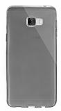 Dafoni Aircraft Samsung Galaxy C5 Ultra İnce Şeffaf Siyah Silikon Kılıf