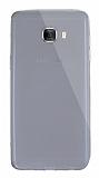 Dafoni Aircraft Samsung Galaxy C7 Pro Ultra İnce Şeffaf Siyah Silikon Kılıf