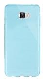 Dafoni Aircraft Samsung Galaxy C7 SM-C7000 Ultra İnce Şeffaf Mavi Silikon Kılıf