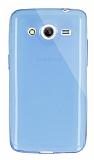 Dafoni Aircraft Samsung Galaxy Core 2 Ultra İnce Şeffaf Mavi Silikon Kılıf