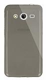 Dafoni Aircraft Samsung Galaxy Core 2 Ultra İnce Şeffaf Siyah Silikon Kılıf