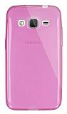 Dafoni Aircraft Samsung Galaxy Core Prime İnce Şeffaf Pembe Silikon Kılıf