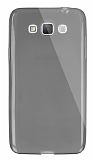 Dafoni Aircraft Samsung Galaxy Grand Max Ultra İnce Şeffaf Siyah Silikon Kılıf