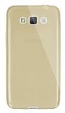 Dafoni Aircraft Samsung Galaxy Grand Max Ultra İnce Şeffaf Gold Silikon Kılıf