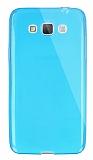 Dafoni Aircraft Samsung Galaxy Grand Max Ultra İnce Şeffaf Mavi Silikon Kılıf