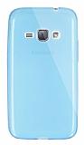 Dafoni Aircraft Samsung Galaxy J1 2016 Ultra İnce Şeffaf Mavi Silikon Kılıf