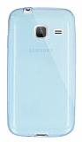 Dafoni Aircraft Samsung Galaxy J1 mini Ultra İnce Şeffaf Mavi Silikon Kılıf